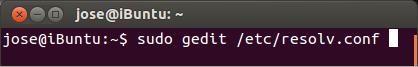 """Ahora editamos el archivo """"resolv.conf"""" que esta en """"/etc"""""""
